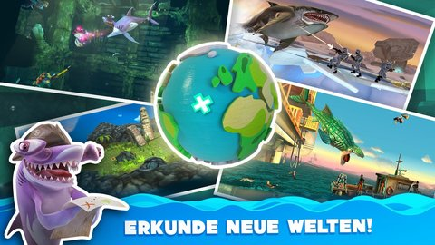 Hungry Shark World Titelbild Welten Karte