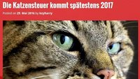 Einführung der Katzensteuer in Deutschland 2017 - Was ist dran?