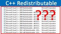 Warum ist so oft Microsoft Visual C++ Redistributable auf meinem PC installiert?
