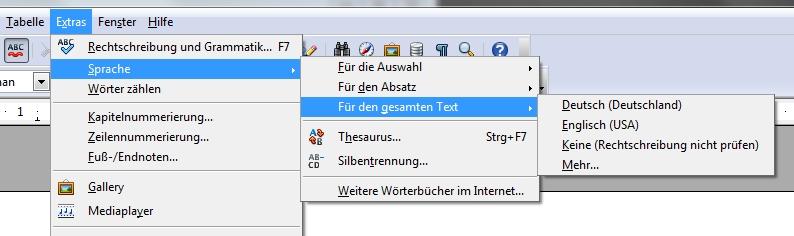 OpenOffice: Sprache der Rechtschreibprüfung und Menüs ändern – GIGA