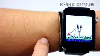 SkinTrack: Revolutionäre Technik verwandelt den Unterarm in einen Touchscreen