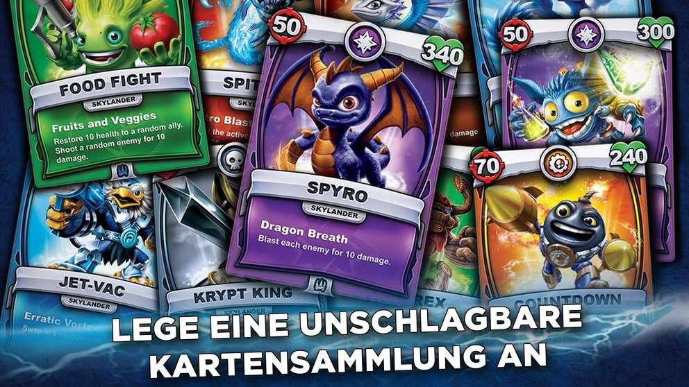 Skylanders Battlecast Kartensammlung