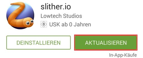 Slither.io Android App Skins Aktualisieren