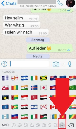 WhatsApp Flaggen im Chat