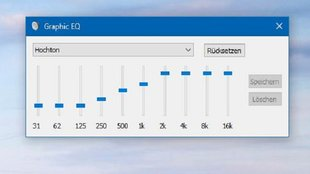 Windows 10: Equalizer einstellen – so geht's