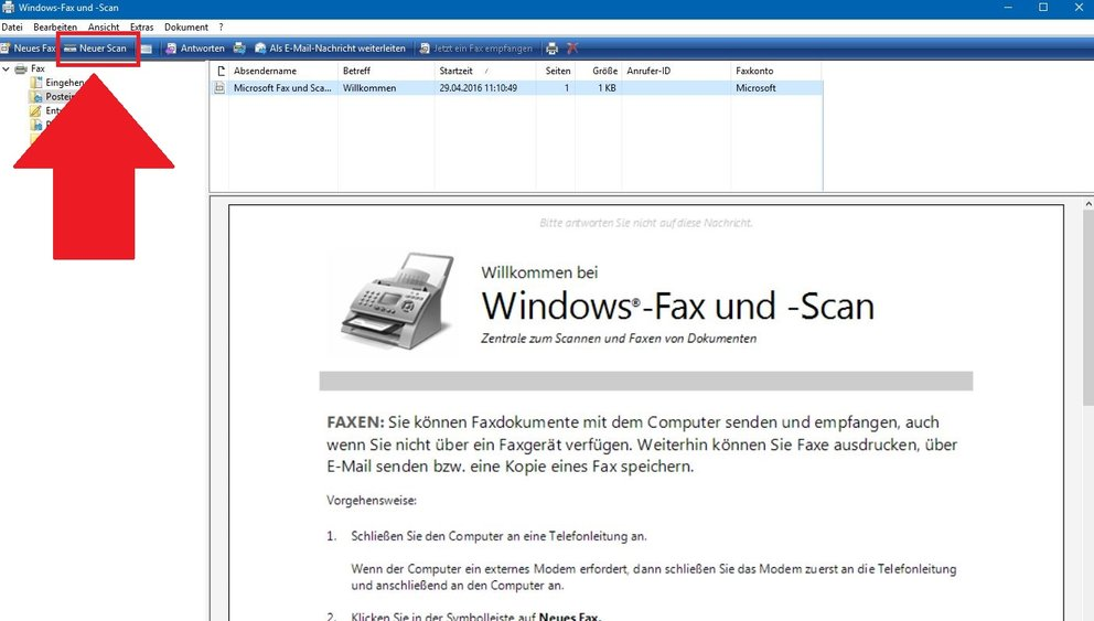 Windows 10 Scannen mit Tool