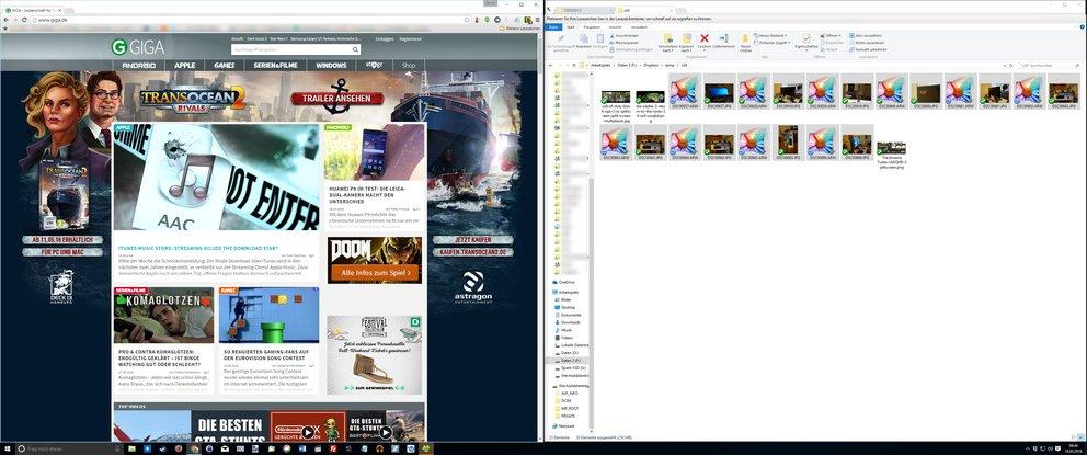Viel Platz zum Arbeiten: Wer mit Fenstern jonglieren kann, erhöht mit dem Acer Predator X34 seine Produktivität