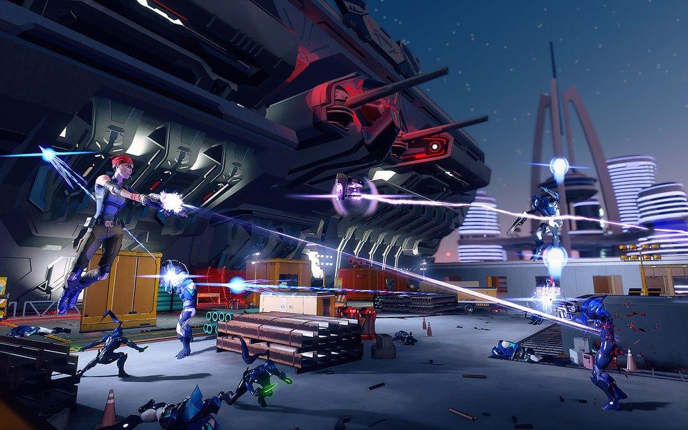 Agents of Mayhem: Wie es sich für ein Spiel im Saints-Row-Universum gehört, gibt es abgefahrene Waffen und Spezialfähigkeiten.