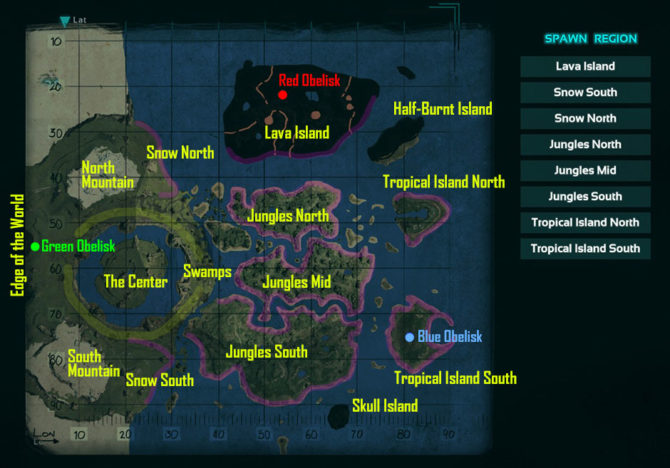 The Center Alle Maps Für Ark Survival Evolved Giga