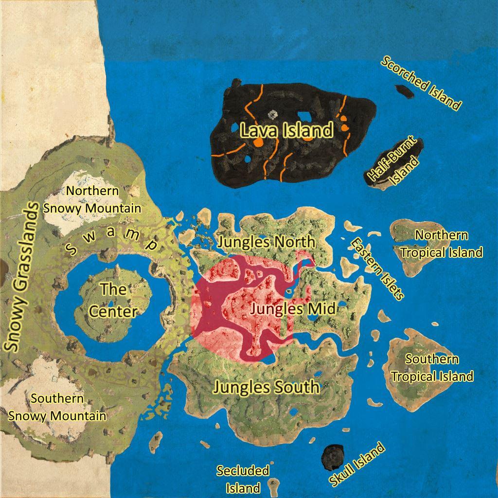 Ark Ragnarok öl Karte.Ark Survival Evolved Unterwelt Im Detail Koordinaten Und Tipps