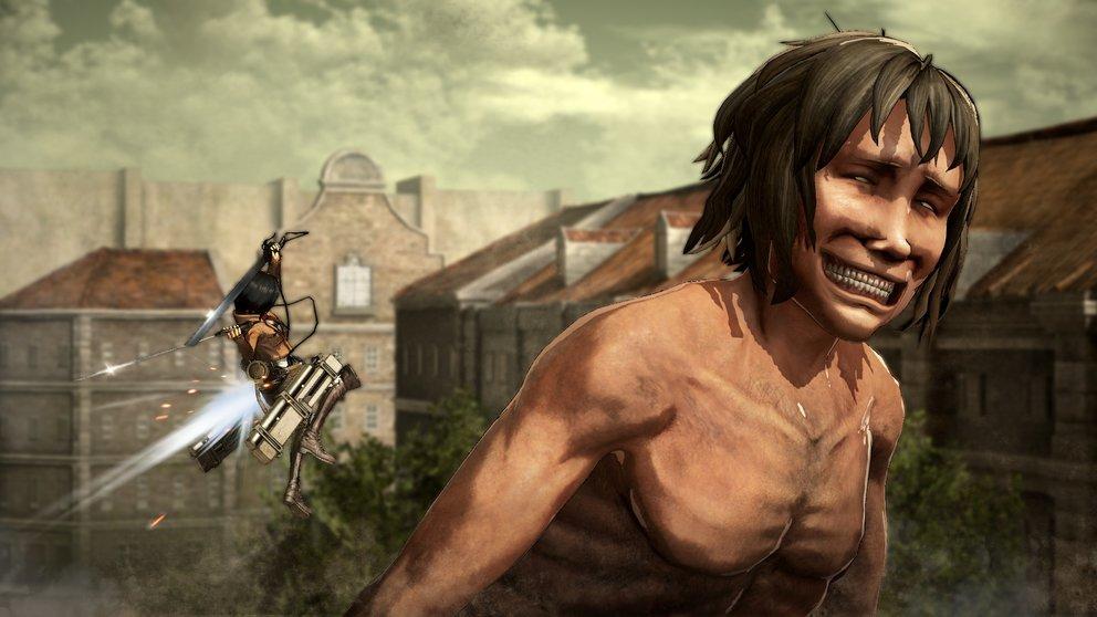 AOT - Wings of Freedom: Immer schön auf den Nacken, denn hier liegt die Schwachstelle der Titanen.