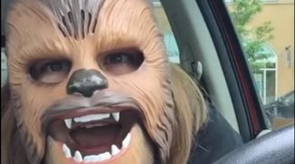 Chewbacca Maske: Video bei Facebook und Maske selber machen