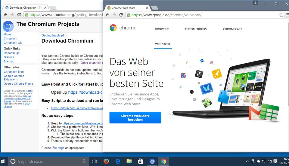 Optisch unterschieden sich Chrome und Chromium kaum.