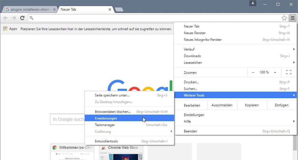 Chrome Plugins Anzeigen Installieren Deinstallieren So Gehts