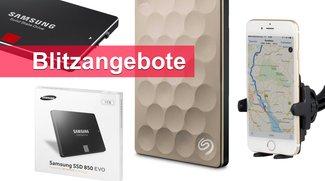 Blitzangebote: Samsung SSDs, Festplatten, Kfz-Halterung u.v.m. heute günstiger