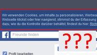 Facebook: Wir verwenden Cookies, um Inhalte zu personalisieren – Bedeutung erklärt