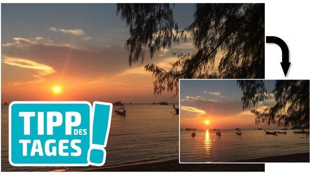 Fotos auf dem iPhone verkleinern für Mail, WhatsApp, Facebook & Co