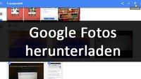 Google Fotos: Bilder und Album herunterladen – so gehts