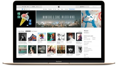 iTunes OS X MacBook