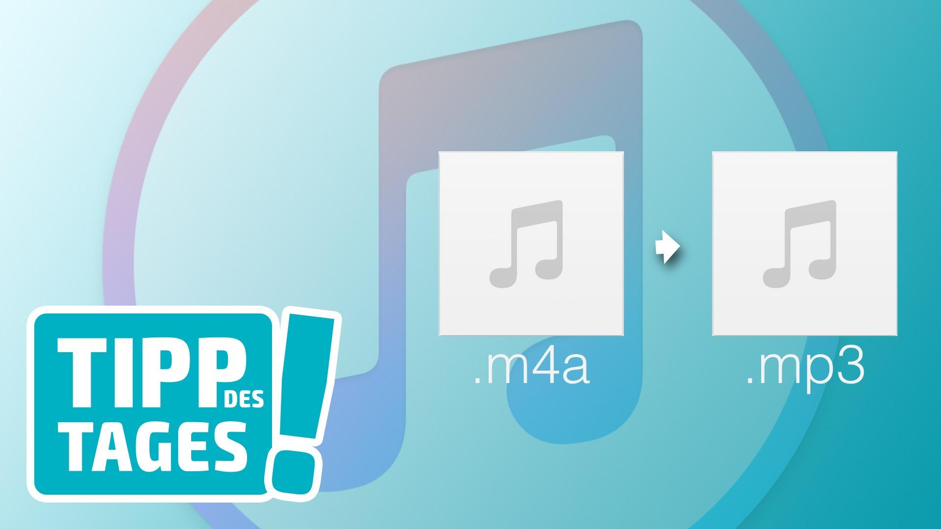 m4a mp3 konvertieren itunes