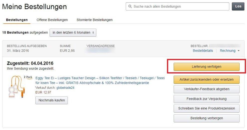 Amazon teilt bestellung auf