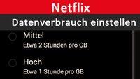 Netflix: Wie hoch ist der Datenverbrauch? Wie stelle ich das ein?