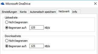 OneDrive: Upload- & Download-Rate einstellen – So geht's