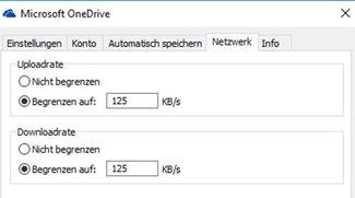 OneDrive: Upload- & Download-Rate einstellen – So geht's