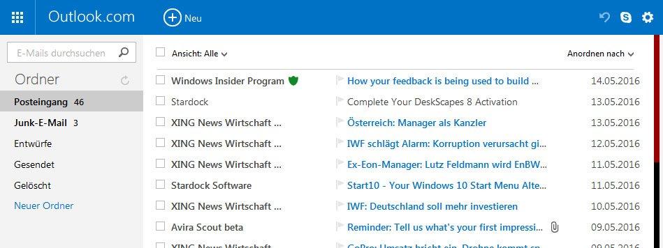 Outlook.com hat eine ganze Menge an Online-Funktionen.