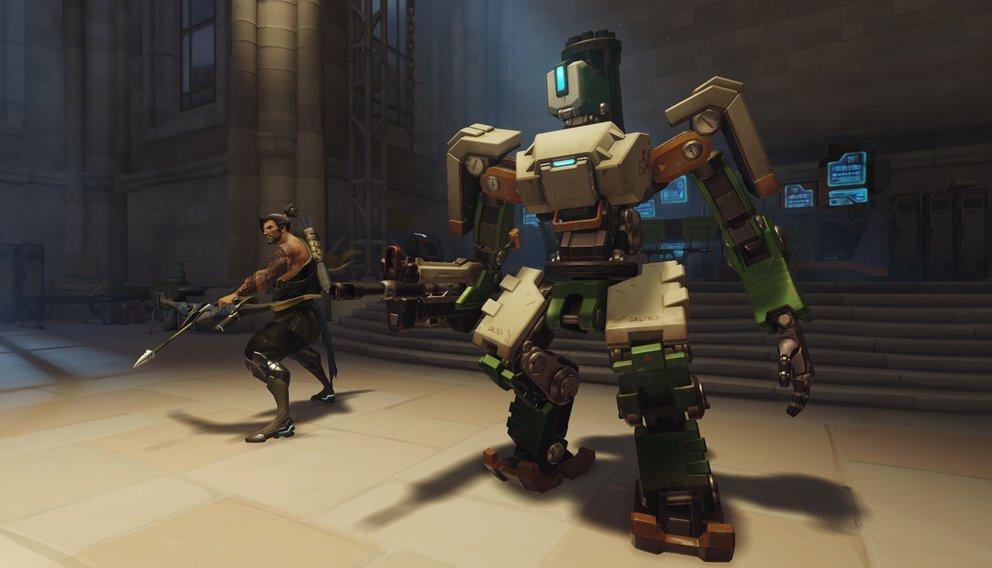 Drei verschiedene Helden in einem: Das ist der Kampfroboter Bastion.