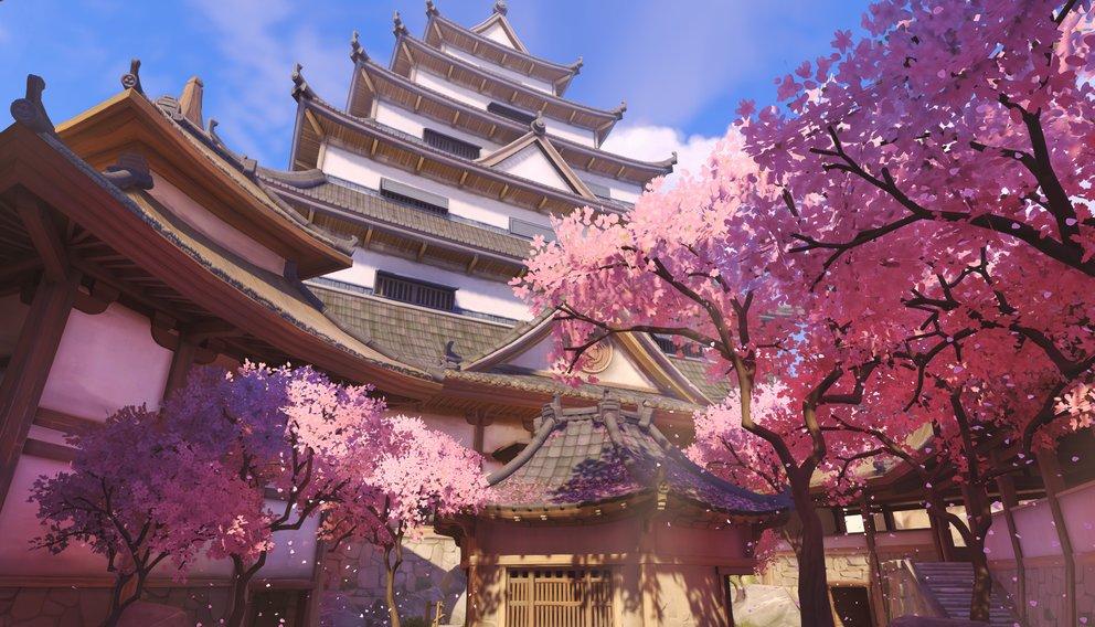 """Im japanischen Hanamura kämpft ihr im Modi """"Angriff"""" und müsst Zielpunkte einnehmen."""