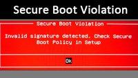 Secure Boot Violation – Ursache und Fehler-Lösung
