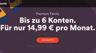 Spotify: Familien-Abo mit sechs Accounts nur noch 14,99 Euro im Monat
