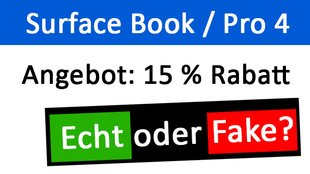Microsoft-E-Mail: Surface Book / Surface Pro 4 mit 15% Rabatt – Fake oder echt?