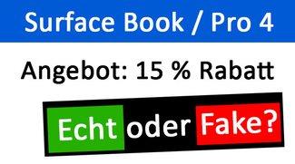Microsoft-E-Mail: Surface Book / Surface Pro 4 mit 15% Rabatt – Fake oder echt?