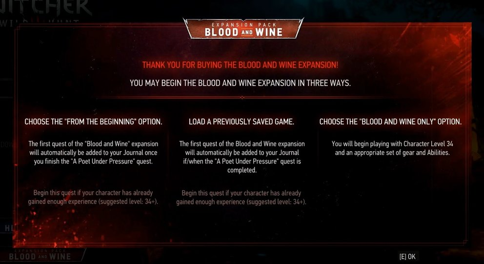 the-witcher-3-blood-and-wine-dlc-starten