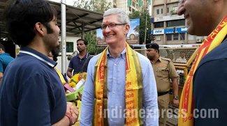 Tim Cook in Indien: Treffen mit Managern und Bollywood-Star