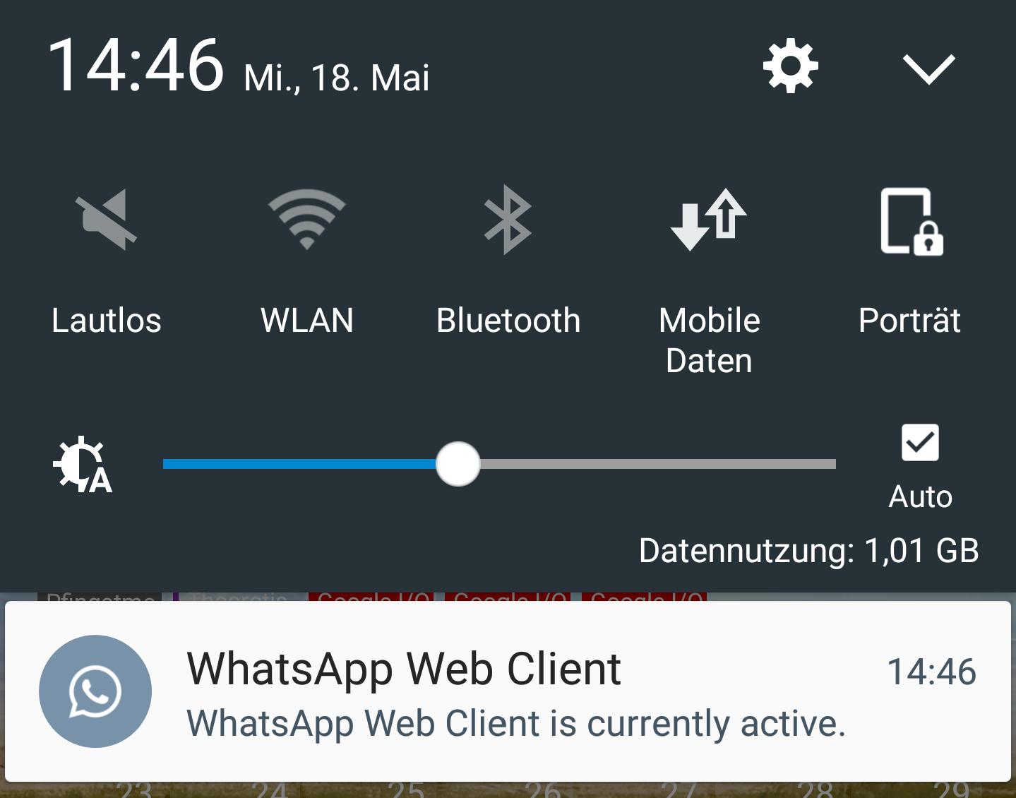 whatsapp screenshot benachrichtigung