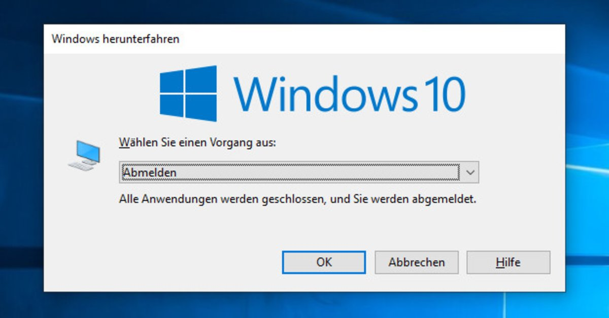 Win 10 Abmelden