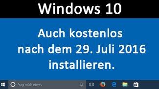 Windows 10 Hilfstechnologien: Betriebssystem immer noch kostenlos beziehen