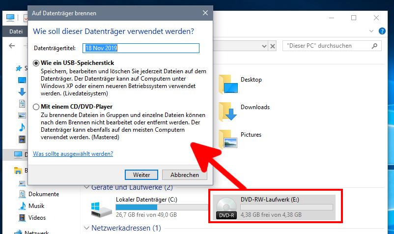 Windows 10 Cd Brennen