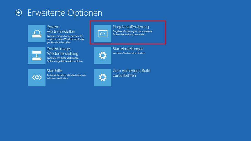 Die Eingabeaufforderung könnt ihr auch außerhalb von Windows 10 starten.