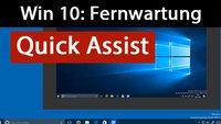 Windows 10: Fernwartung mit Quick Assist (ohne Teamviewer) – So geht's