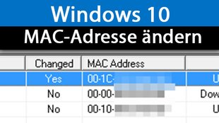 Windows 10: MAC-Adresse ändern – so geht's