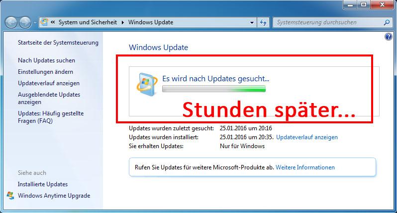 Windows Update Sucht Ewig Win7