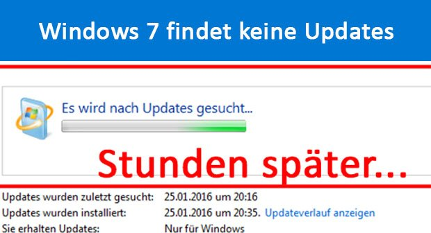 Windows 7 Update Sucht Ewig 2021