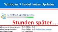 Lösung: Windows 7 findet keine Updates oder sucht ewig (Fix)