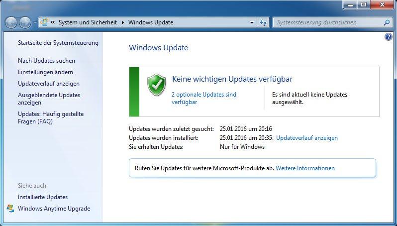 Windows 7 64 Bit Findet Keine Updates