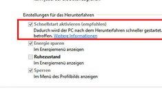 Windows 10: Schnellstart deaktivieren – so geht's
