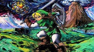 """Zelda trifft Van Gogh: Künstlerin interpretiert Videospiele im """"Sternennacht""""-Stil"""